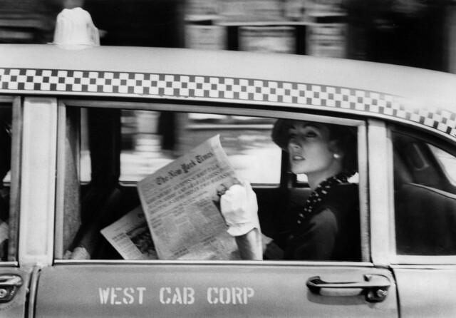 Такси, Нью-Йорк, 1958. Фотограф Роберт Франк