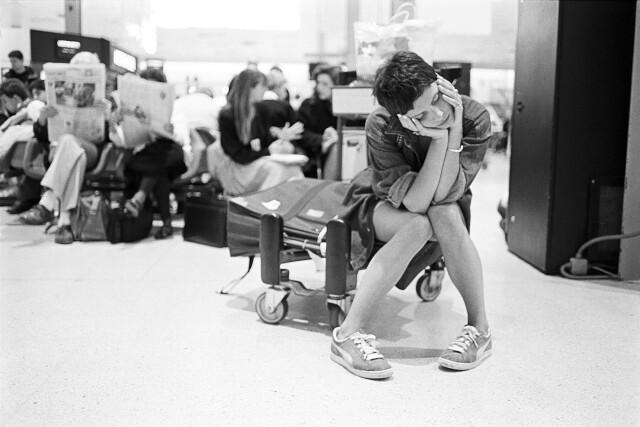 Аэропорт Хитроу, 1995. Фотограф Дэвид Соломонс