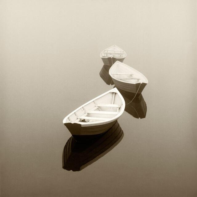 Лодки в тишине. Фотограф Майкл Кан