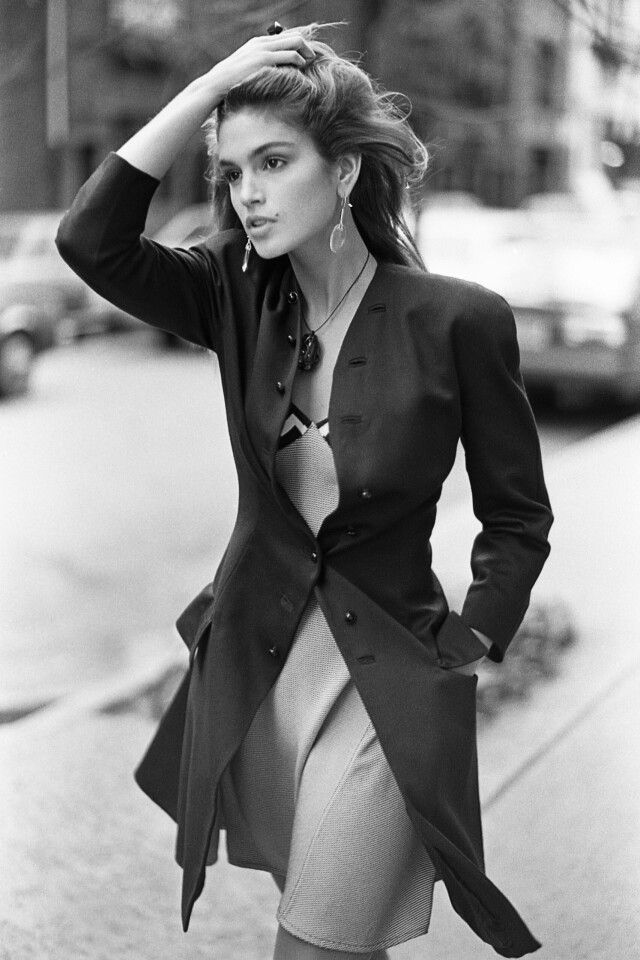 Синди Кроуфорд, Нью-Йорк, Vogue, 1987. Фотограф Артур Элгорт