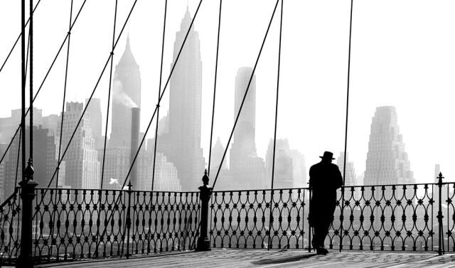 Бруклинский мост, 1943. Фотограф Пол Химмель