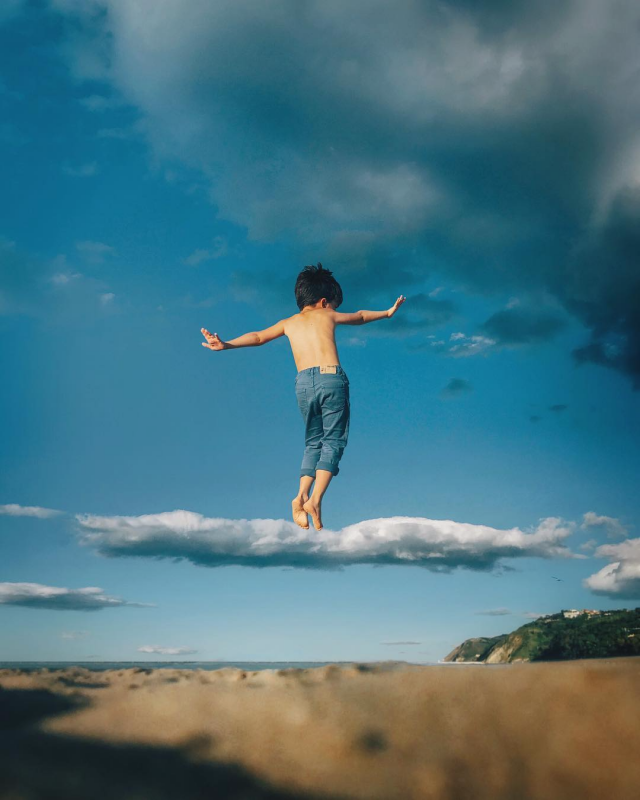 «Сёрфинг в облаках». Фотограф Симон Браманте