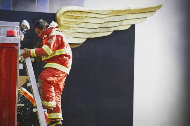 «Пожарный с крыльями». Фотограф Рикардо Куба Завала
