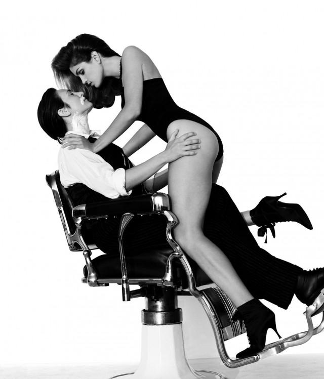Кэтрин Дон Ланг и Синди Кроуфорд, Лос-Анджелес, 1993. Автор Герб Ритц