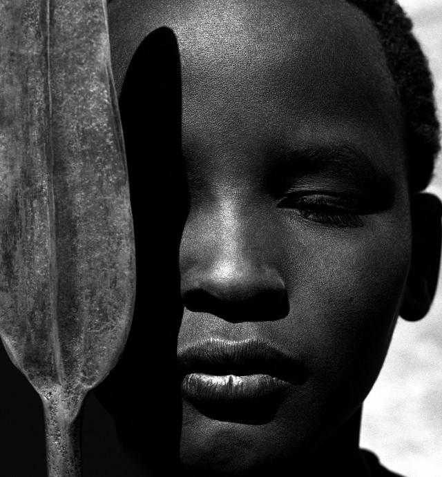 Лорики с копьём, Африка, 1993. Автор Герб Ритц
