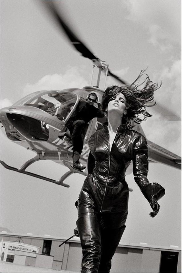 Стефани Сеймур, Vogue, 1990. Фотограф Герб Ритц