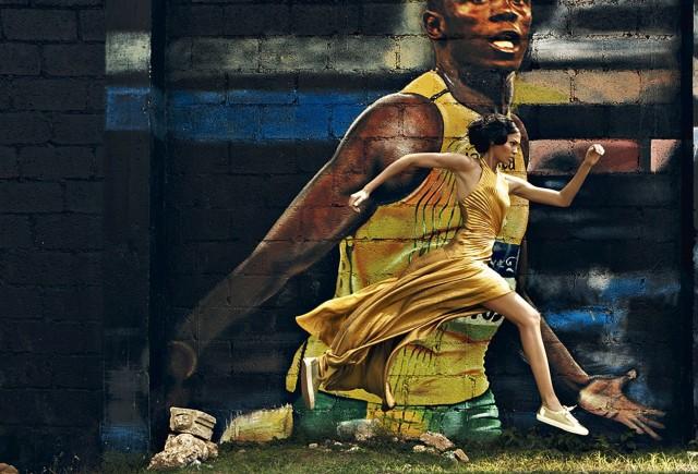 Джоан Смоллс, Ямайка, VOGUE, 2012. Автор Патрик Демаршелье