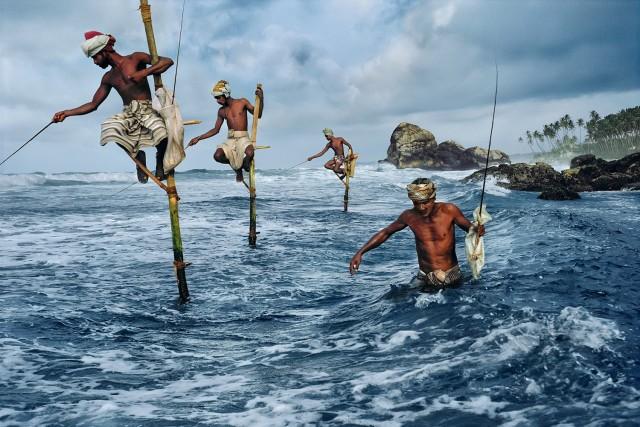 Рыбаки, Шри-Ланка, 1995. Автор Стив Маккарри