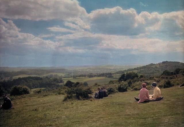 Суррейские холмы, Англия, 1928. Автохром, фотограф Клифтон Р. Адамс