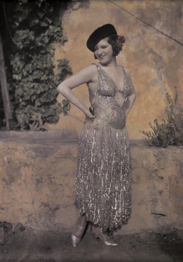 Испанская танцовщица, 1920-е. Автохром, фотограф Вильгельм Тобьен