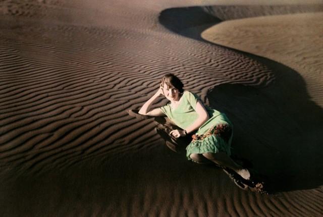 Песчаные дюны близ Кресент-Сити, Калифорния, 1929. Автохром, фотограф Чарльз Мартин