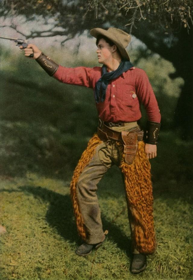 Ковбой, 1916. Автохром, фотограф Франклин Прайс Нотт