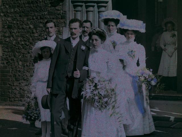 Свадьба, 1910 – 1915. Автохром, фотограф Артур Э. Мортон