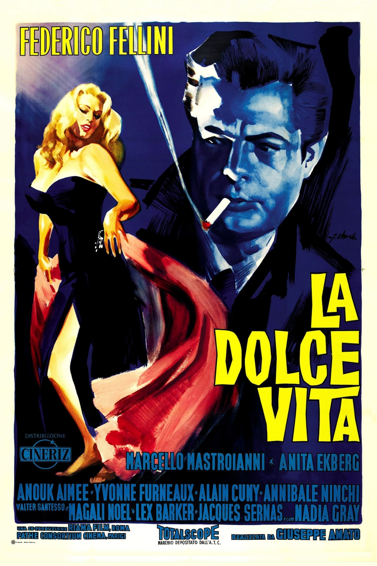 «Сладкая жизнь», 1960. Режиссёр Федерико Феллини
