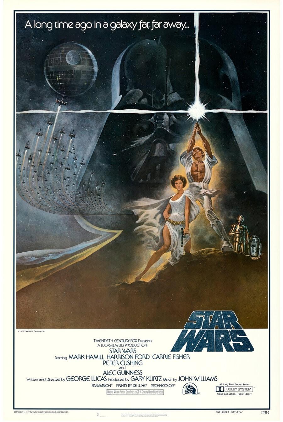 Плакат к первому фильму «Звёздные войны» (20th Century Fox, 1977)