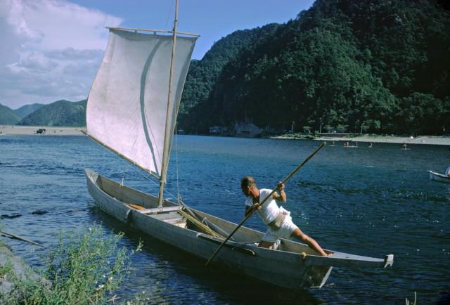 Рыбная ловля на реке Удзи, Япония, 1962. Автор Мартин Карплус