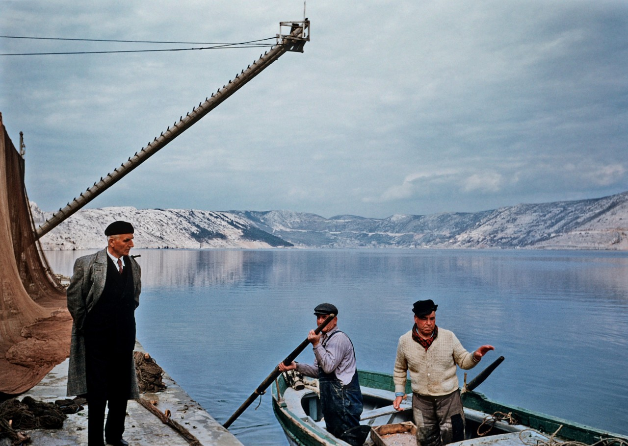 Рыбаки и Вранское озеро, Хорватия, 1955. Автор Мартин Карплус