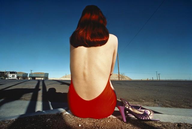 Кампания для «Charles Jourdan»,  Калифорния, 1975. Автор Ги Бурден
