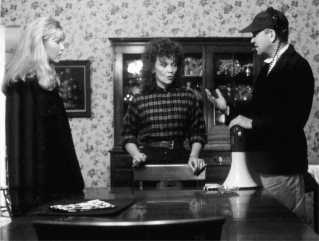 """Дэвид Линч, Шерил Ли, Грейс Забриски на съемках """"Твин-Пикс: Сквозь огонь"""""""