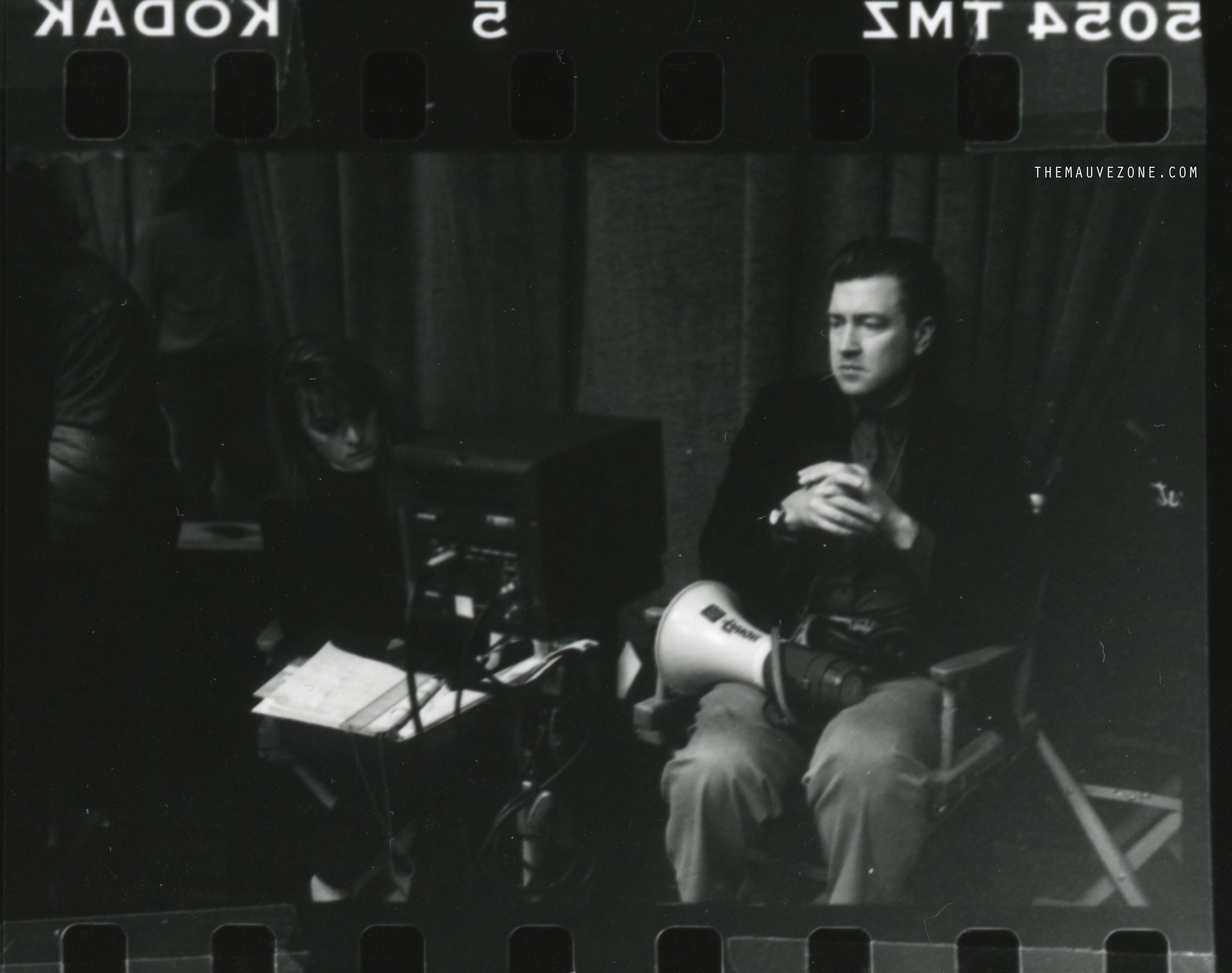 Дэвид Линч на съемках второго сезона «Твин Пикс»