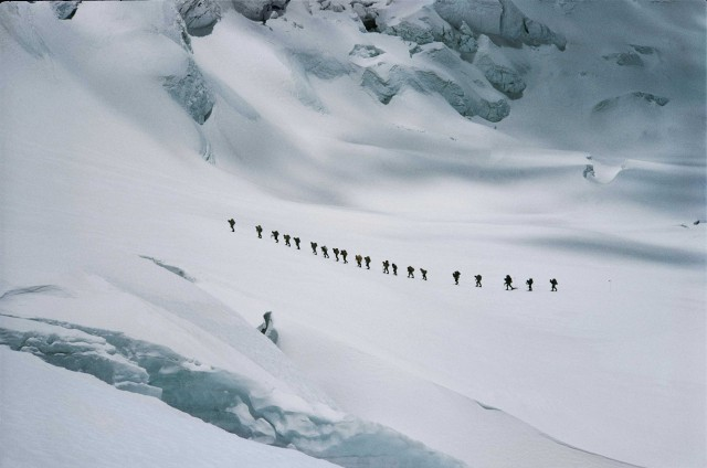 Экспедиция под руководством Эдмунда Хиллари, Гималаи, Непал, 1962. Фотограф Джон Харрисон