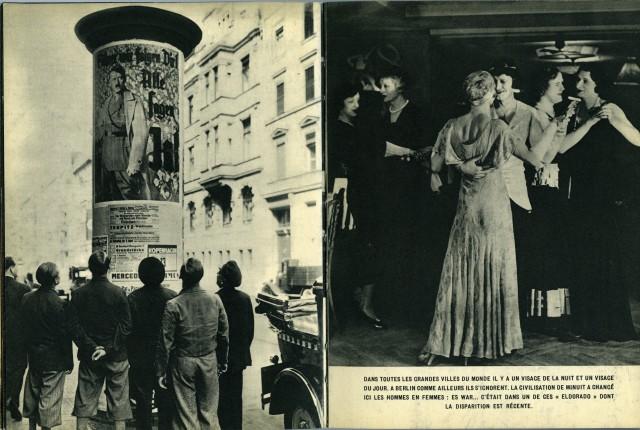 Берлин дневной и Берлин ночной. Полуночная культура изменила мужчин на женщин. Из фотокниги «Берлин», 1930-е. Автор Пьер Мак-Орлан