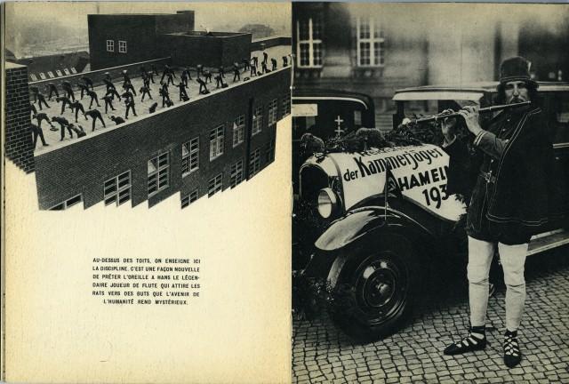 Дисциплина на крышах и новая версия крысолова Ганса с волшебной флейтой. Из фотокниги «Берлин», 1930-е. Автор Пьер Мак-Орлан