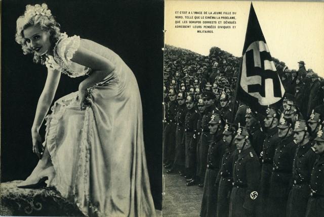 Нордический девичий образ и доблестные немецкие полицейские. Из фотокниги «Берлин», 1930-е. Автор Пьер Мак-Орлан
