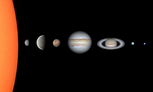 «Солнечная система через телескоп». Автор Винисиус Мартинс