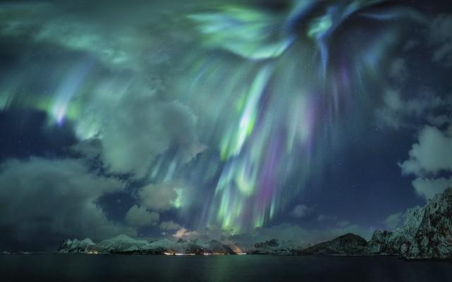 Полярное сияние, Скаланн, Норвегия. Автор Николас Реммельт