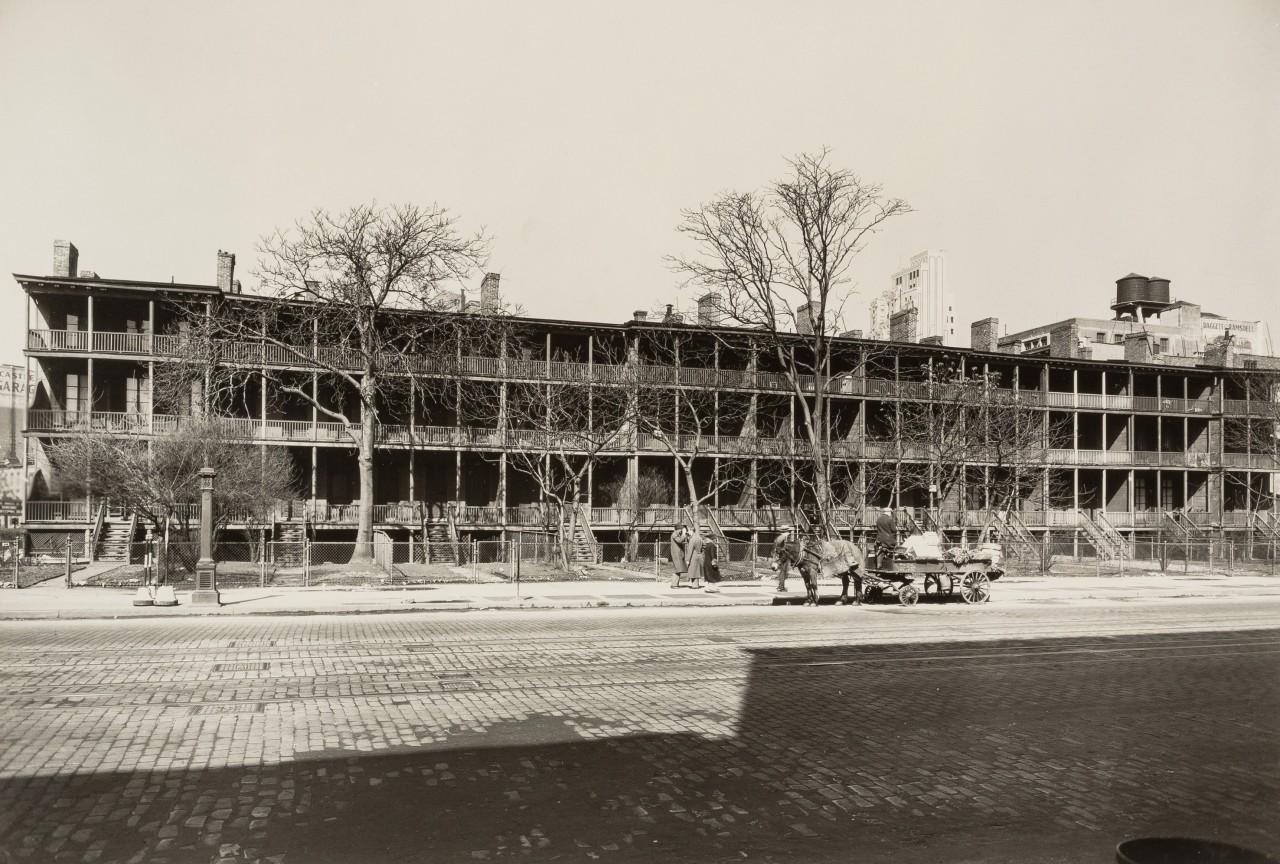 Райнландер-роу, Седьмая авеню, 20 марта 1936. Автор Беренис Эббот