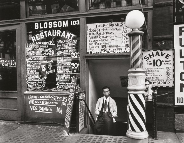 Ресторан Blossom, между улицами Гранд и Хестер, 24 октября 1935. Автор Беренис Эббот