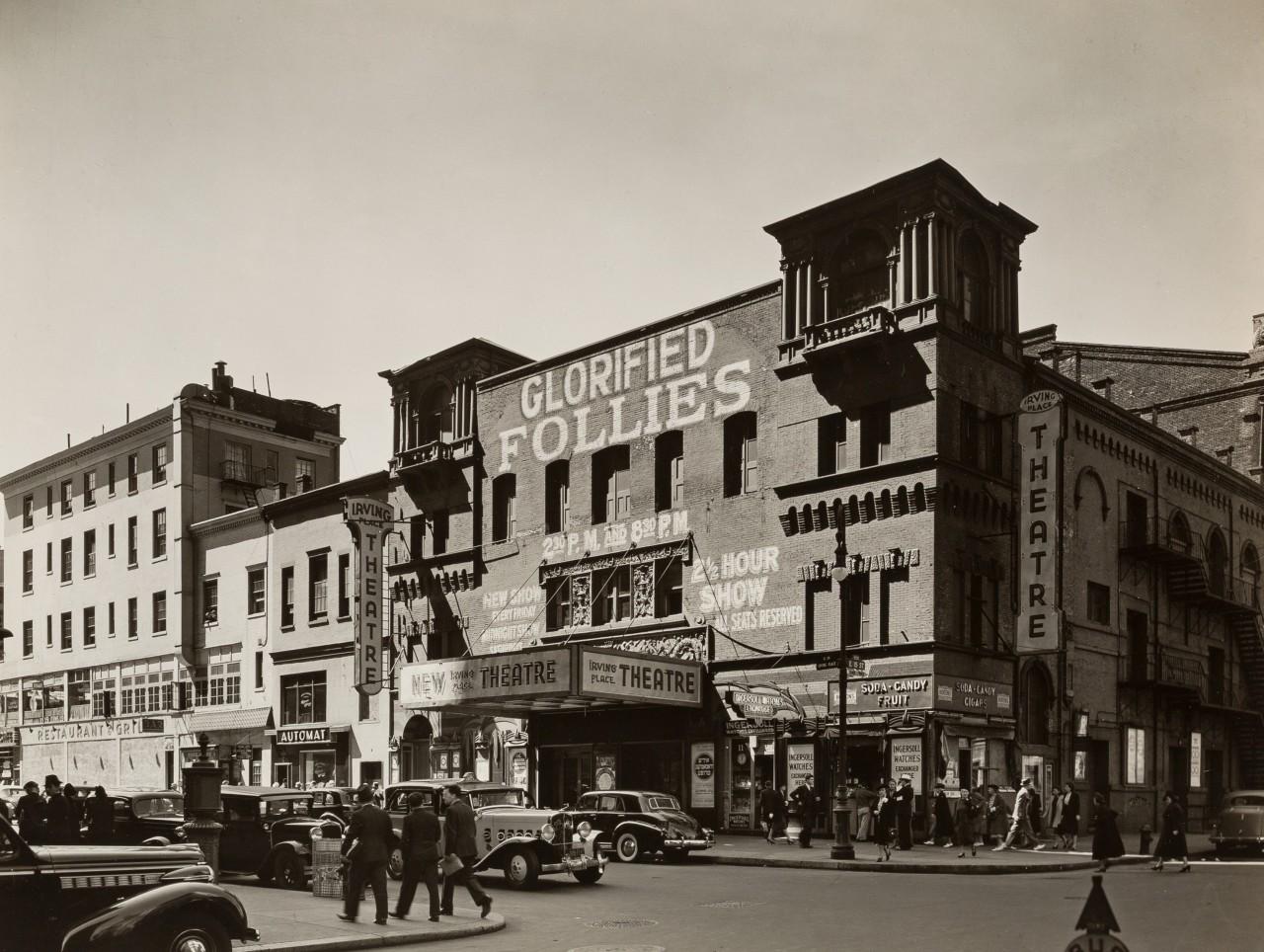 Театр Ирвинг Плэйс, 8 сентября, 1938. Автор Беренис Эббот
