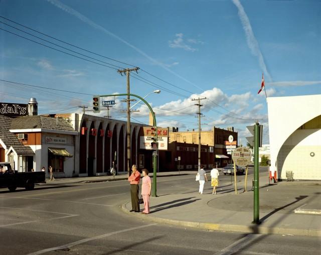 Брод-стрит, Реджайна, Саскачеван, 1974. Фотограф Стивен Шор