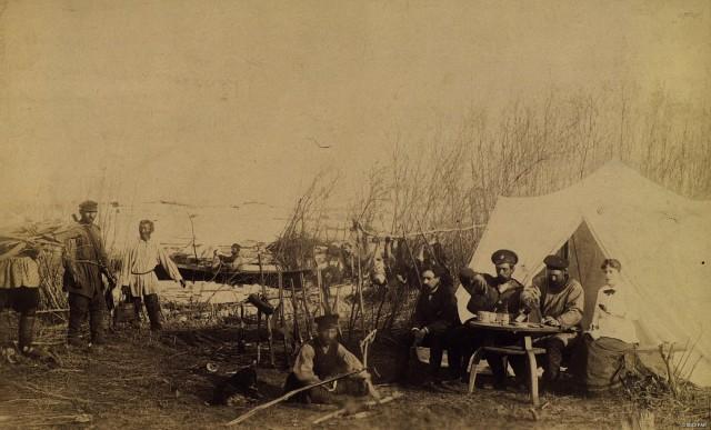 Лагерь охотников на гуся. Якутия (Саха), вторая половина XIX в.