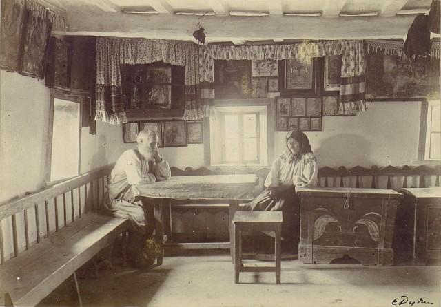 В хате. Херсонская губерния, Елисаветградский уезд, Украина, 1894. Автор С. М. Дудин