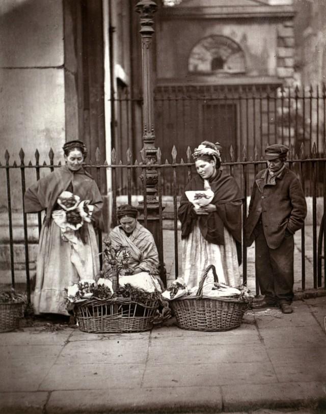 Цветочницы из Ковент-Гардена, 1877. Автор Джон Томпсон
