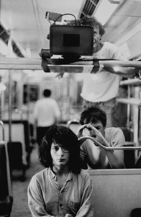 Жюльет Бинош, режиссёр Леос Каракс и оператор Жан-Ив Эскофье, «Любовниках с Нового моста», 1991