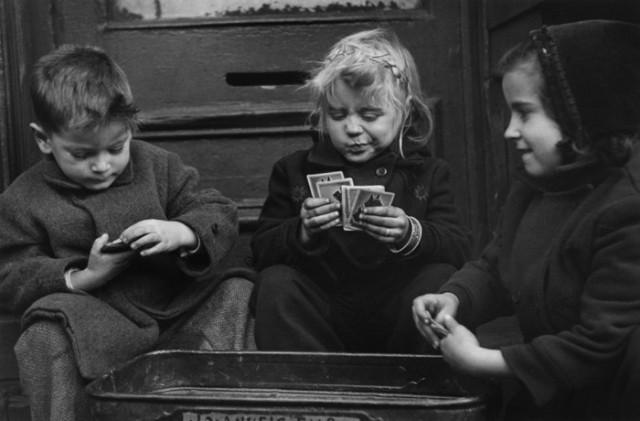 Картёжники, Нью-Йорк, 1947. Фотограф Рут Оркин