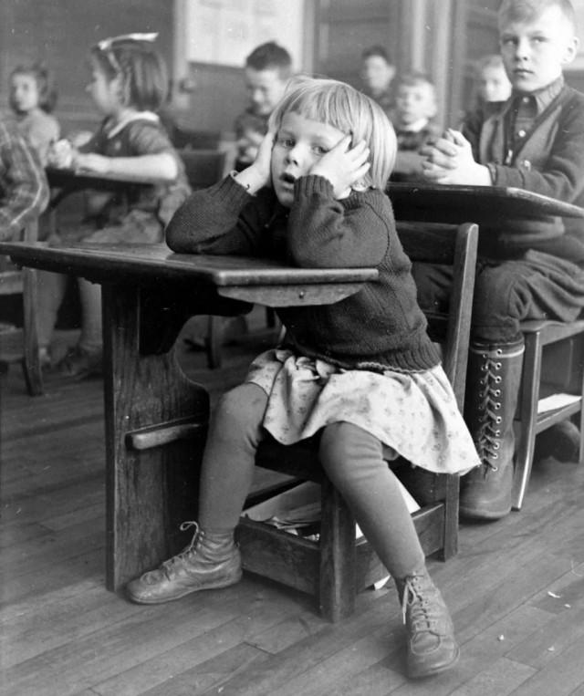 Школьники в штате Мэн, 1942. Фотограф Бернард Хоффман