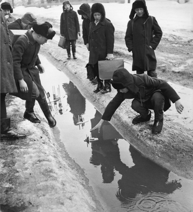 Сельская школа, 1970. Фотограф Вадим Опалин