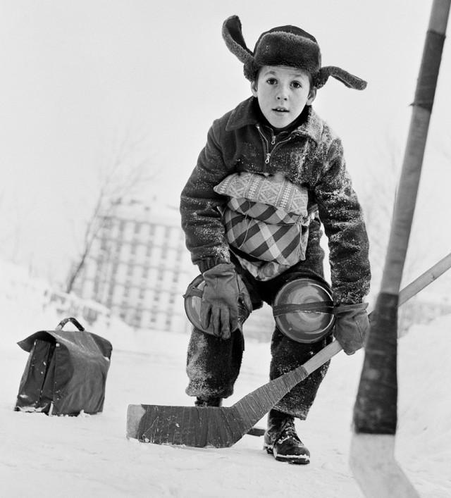 Вратарь, 1961. Фотограф Владимир Лагранж