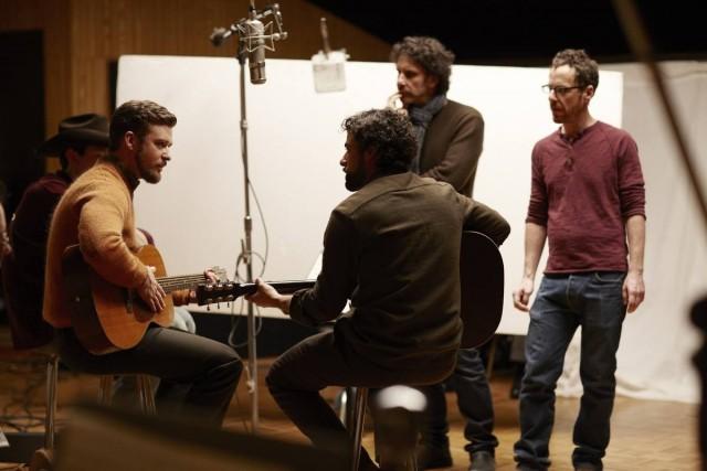 Братья Коэн на съёмках фильма «Внутри Льюина Дэвиса», 2013