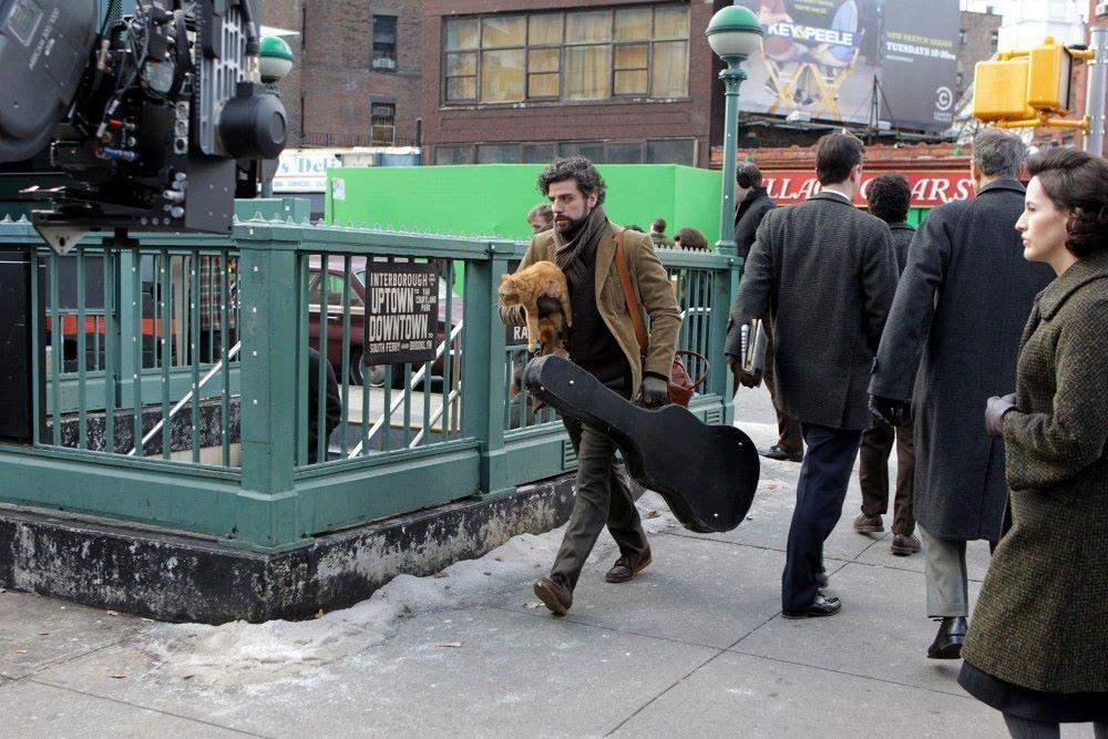 Оскар Айзек на съёмках фильма «Внутри Льюина Дэвиса», 2013