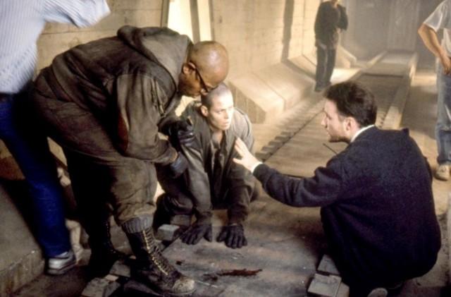 Чарльз Даттон, Сигурни Уивер и Дэвид Финчер на съёмках «Чужого 3», 1992