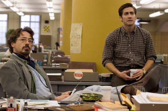 Роберт Дауни-младший и Джейк Джилленхол в «Зодиаке», 2007
