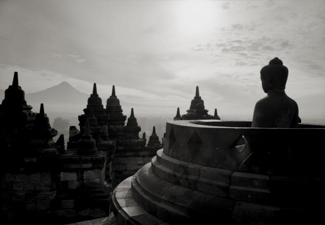 Боробудур, Индонезия, 1996. Фотограф Кенро Идзу