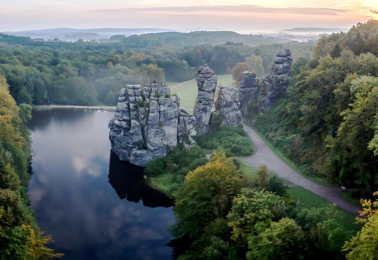 Эксерские камни в Тевтобургском Лесу, Северный Рейн-Вестфалия, Германия