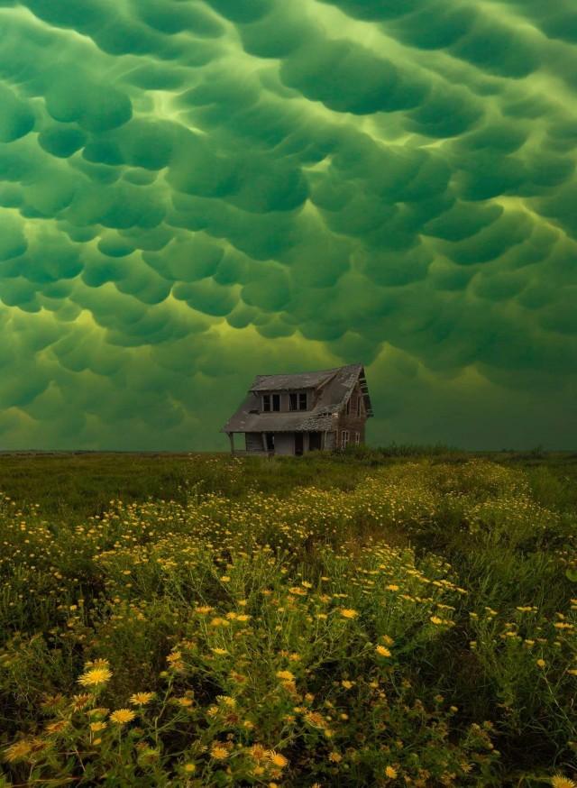 Вымеобразные облака, Южная Дакота, США