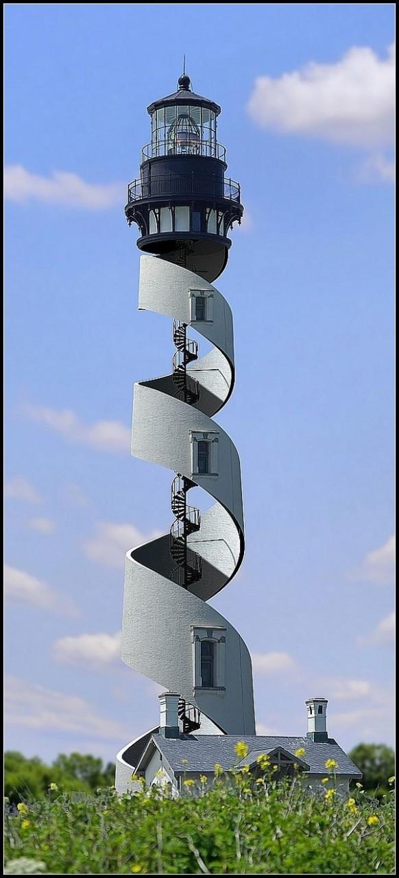 Удивительный спиральный маяк